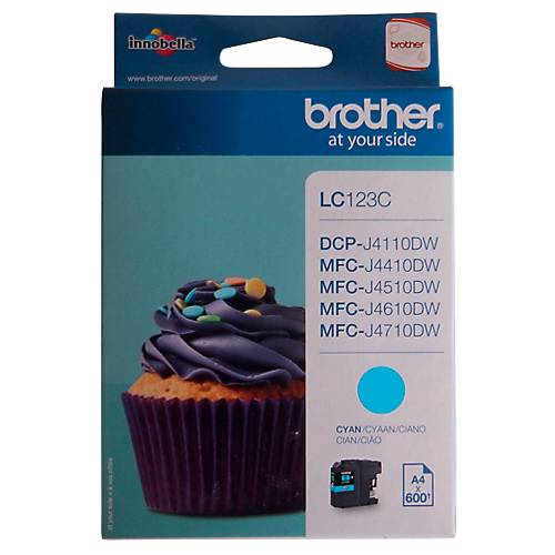 Brother Cartouche jet d'encre Brother D'origine LC123C Cyan