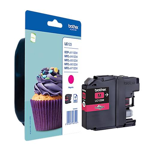 Brother Cartouche jet d'encre Brother D'origine LC123M Magenta