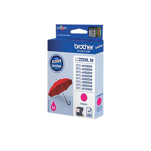 Brother Cartouche jet d'encre Brother D'origine LC225XLM Magenta
