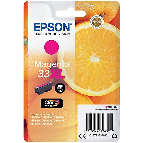 Epson Cartouche jet d'encre Epson D'origine 33XL Magenta C13T33634022