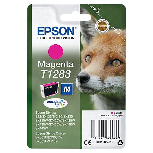 Epson Cartouche jet d'encre Epson D'origine T1283 Magenta C13T12834012