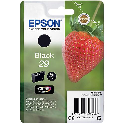 Epson Cartouche jet d'encre Epson D'origine 29 Noir C13T29814012