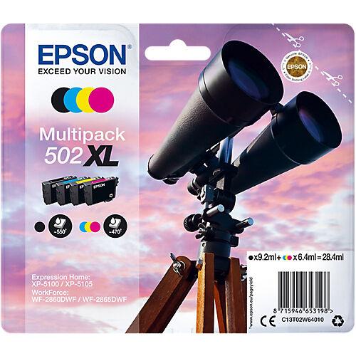 Epson Cartouche jet d'encre Epson D'origine 502XL Noir  Cyan  Magenta  Jaune C13T02W64010 4 Unités