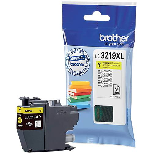 Brother Cartouche jet d'encre Brother D'origine LC3219XLY Jaune