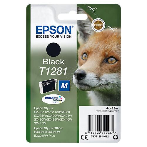 Epson Cartouche jet d'encre Epson D'origine T1281 Noir C13T12814012