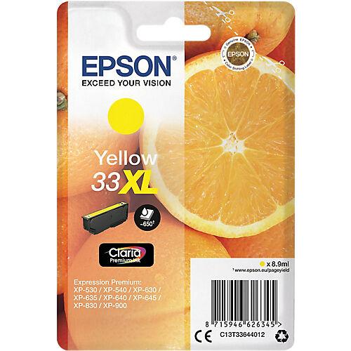 Epson Cartouche jet d'encre Epson D'origine 33XL Jaune C13T33644022