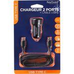 KeyOuest Kit chargeur allume cigare + câble USB-C KeyOuest Noir Type... par LeGuide.com Publicité