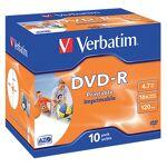 verbatim  Verbatim DVD-R enregistrable Verbatim 4.7 Go 16x 10 Unités DVD-R... par LeGuide.com Publicité