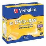 verbatim  Verbatim DVD-RW réinscriptible Verbatim 4.7 Go 4x 5 Unités DVD+RW... par LeGuide.com Publicité