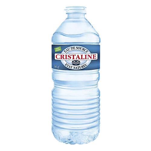 Cristaline Eau minérale Naturelle Non aromatisé Cristaline 50 - 24 Bouteilles de 500 ml