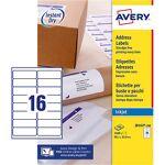 avery  Avery Étiquettes d'adresses Avery Quick DRY A4 Blanc 99 1 x... par LeGuide.com Publicité