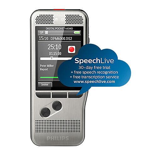 Philips Enregistreur numérique Philips Pocket Memo DPM6000 DSS (Digital Speech Standard)  MP3  PCM Gris