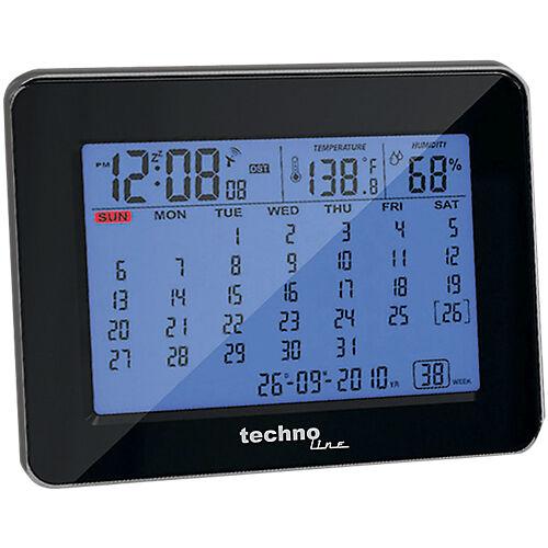 TechnoLine Calendrier horloge TechnoLine WT 2500 19 7 cm x 5 7 cm x 12 cm Noir