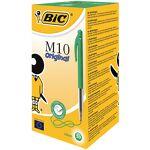 bic  BIC Stylo bille rétractable BIC M10 0.4 mm Vert - 50 Unités Stylos... par LeGuide.com Publicité