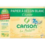 canson infinity  Canson Papier Canson 180 g/m² 29 7 x 21 cm C à grain Blanc... par LeGuide.com Publicité