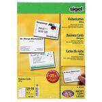sigel  Sigel Cartes de visite Sigel 3C 200 g/m² A4 85 x 55 mm Blanc brilliant... par LeGuide.com Publicité