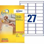 avery  Avery Étiquettes repositionnables Avery L4737REV Blanc 29 6 x 63... par LeGuide.com Publicité