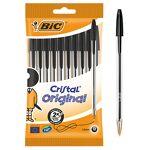 bic  BIC Stylo bille BIC Cristal Original 0.4 mm Noir - 10 Unités Stylo... par LeGuide.com Publicité