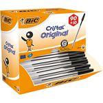 bic  BIC Stylo bille BIC Cristal 0.4 mm Noir - 100 Unités Stylos bille... par LeGuide.com Publicité