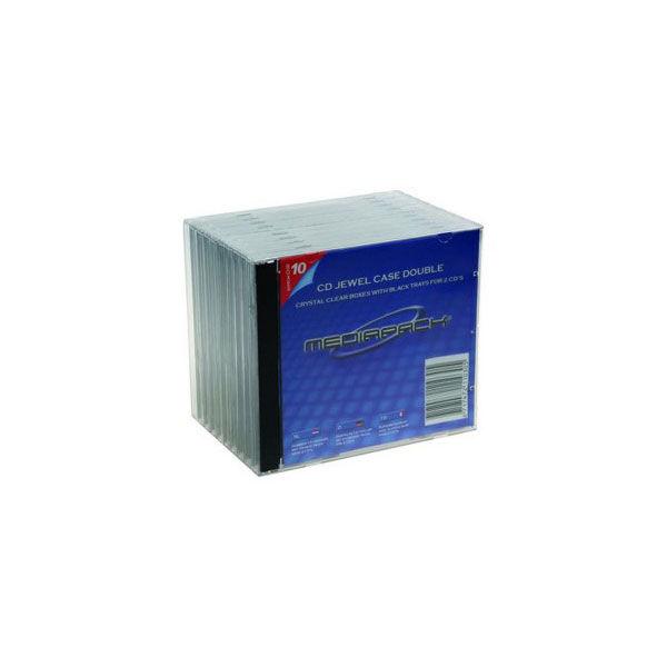 Pack 10 boitiers cd slim 1CD cristal