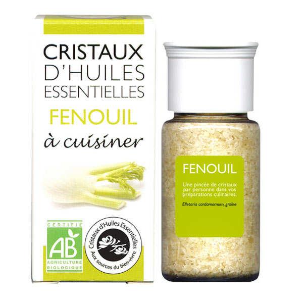 Aromandise Fenouil - Cristaux d'huiles essentielles à cuisiner - Bio - Flacon 10g