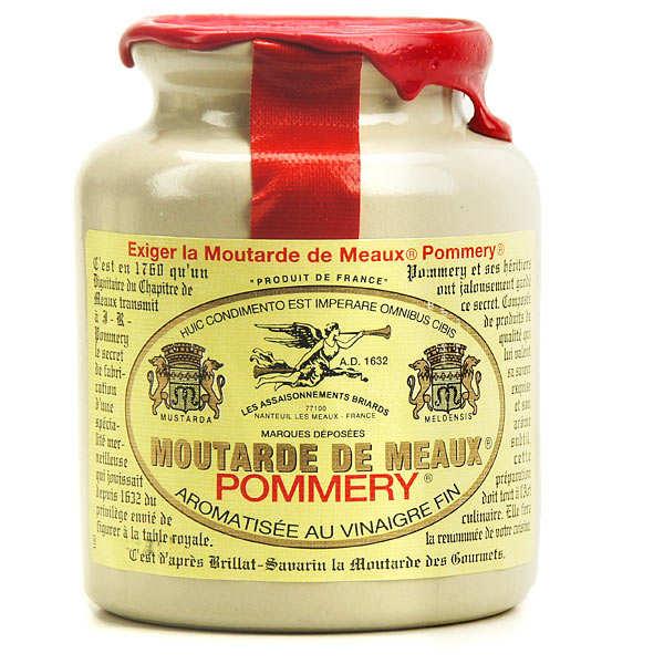 Les assaisonnements Briards Moutarde de Meaux Pommery - Pot en grès 250g bouchon liège + cire