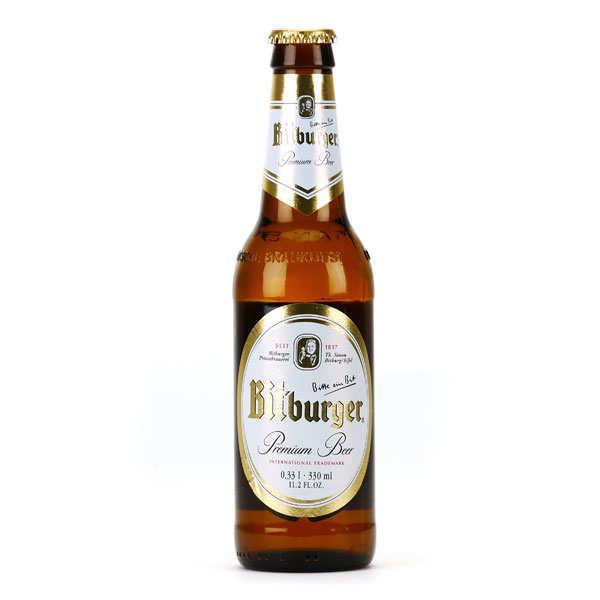 Brasserie Bitburger Bitburger - Bière premium allemande 4.8% - Bouteille 33cl
