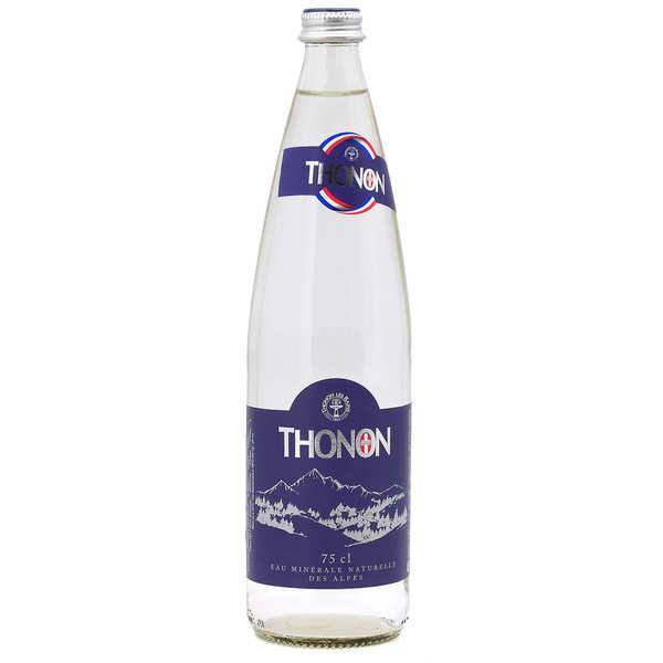 Thonon Eau minérale naturelle plate de Haute Savoie - Thonon - Bouteille verre 75cl