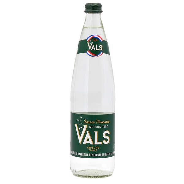 Vals Eau minérale naturelle gazeuse d'Ardèche - Vals - Bouteille verre 75cl