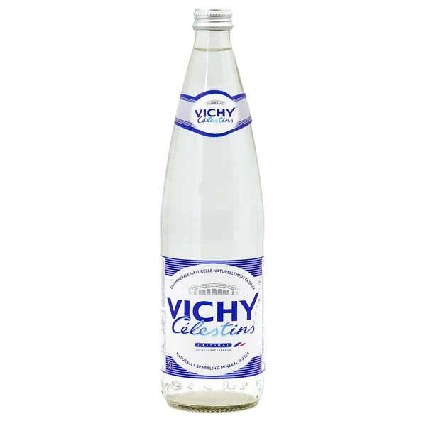Vichy Célestins Eau minérale naturelle gazeuse de Vichy - Bouteille verre 75cl