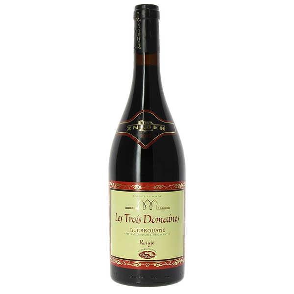 Les Trois Domaines Guerrouane AOP vin rouge du Maroc - Les Trois Domaines - 2018 - Bouteille 75cl