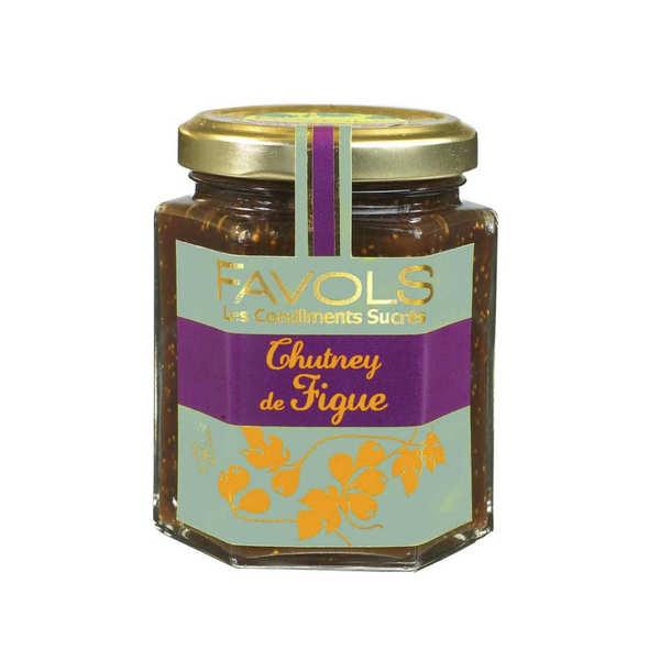 Favols Chutney de figue - Condiment sucré salé - Pot 220g