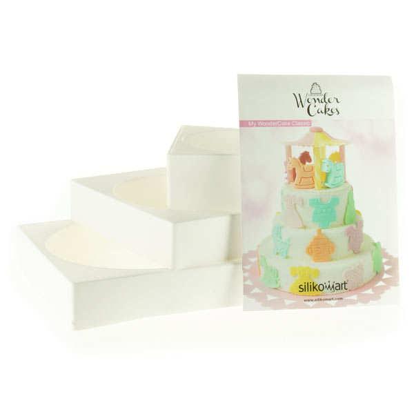 Silikomart Moules pour gâteau à étage - Wonder cake - Moule 3 pièces