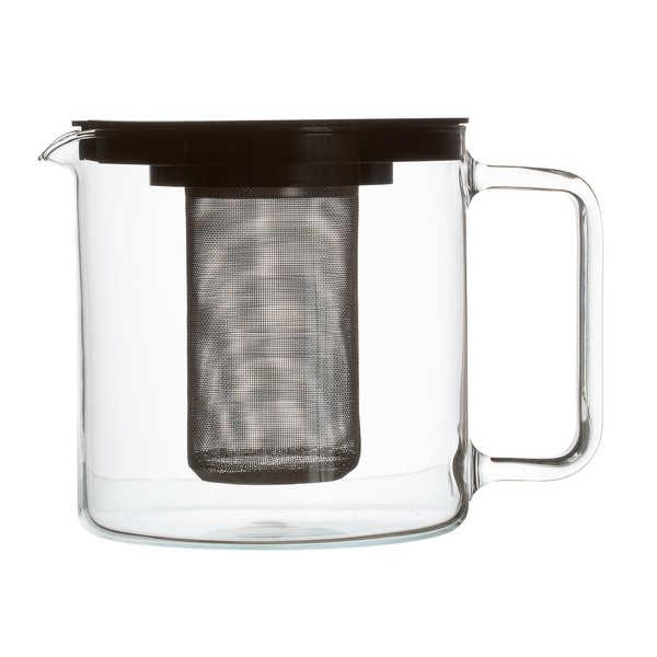 Dammann frères Metropolis - théière avec filtre inox - Théière en verre 1.3L