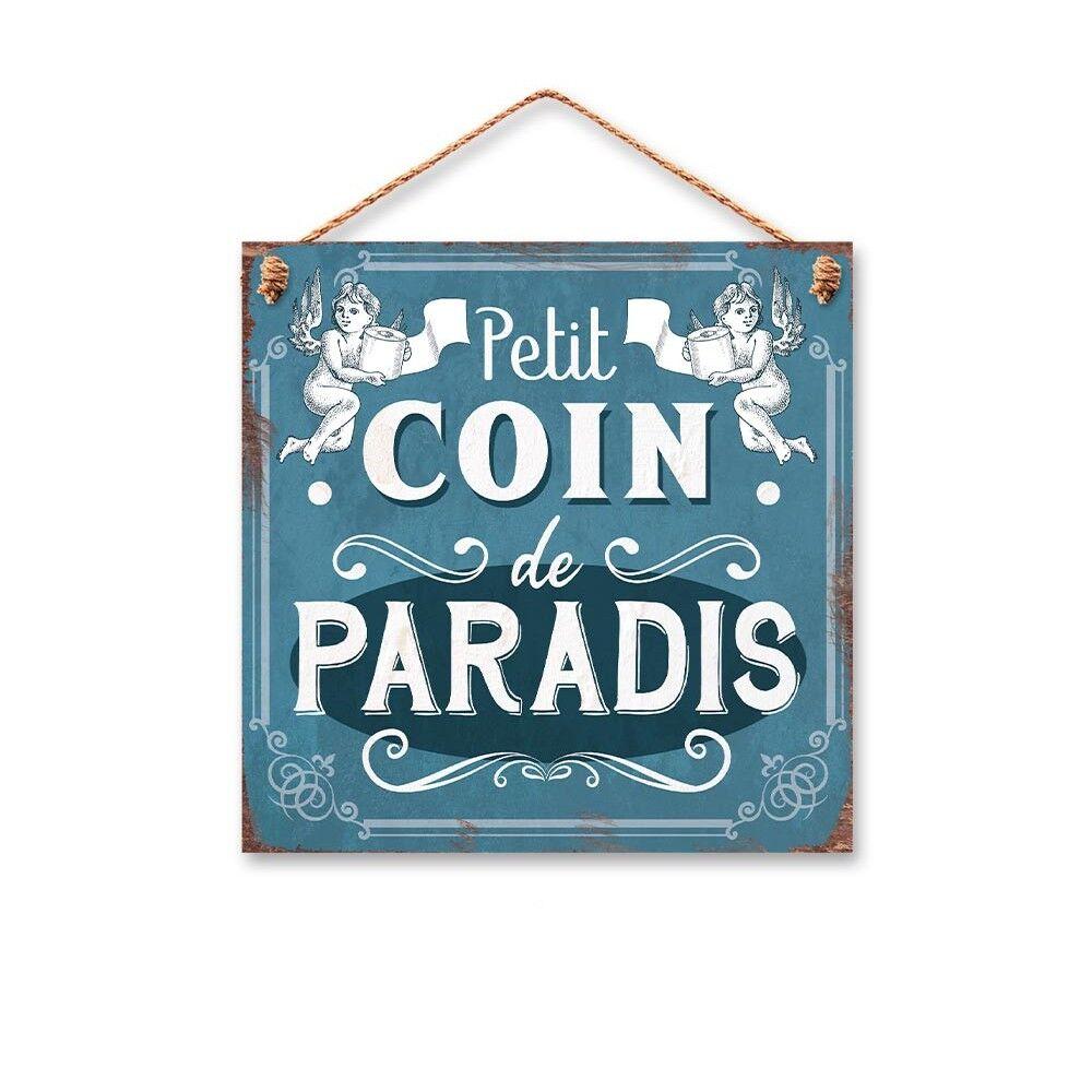 Générique PLAQUE MÉTAL WC PETIT COIN DE PARADIS