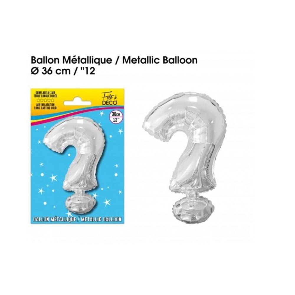 Générique BALLON METAL ARGENT INTERROGATION