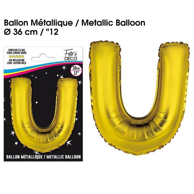 Générique BALLON METALLIQUE OR LETTRE U