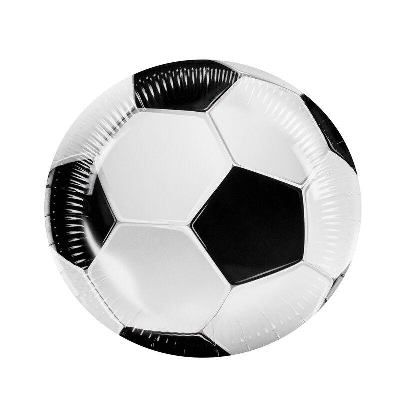 Générique 6 ASSIETTES 23CM FOOTBALL