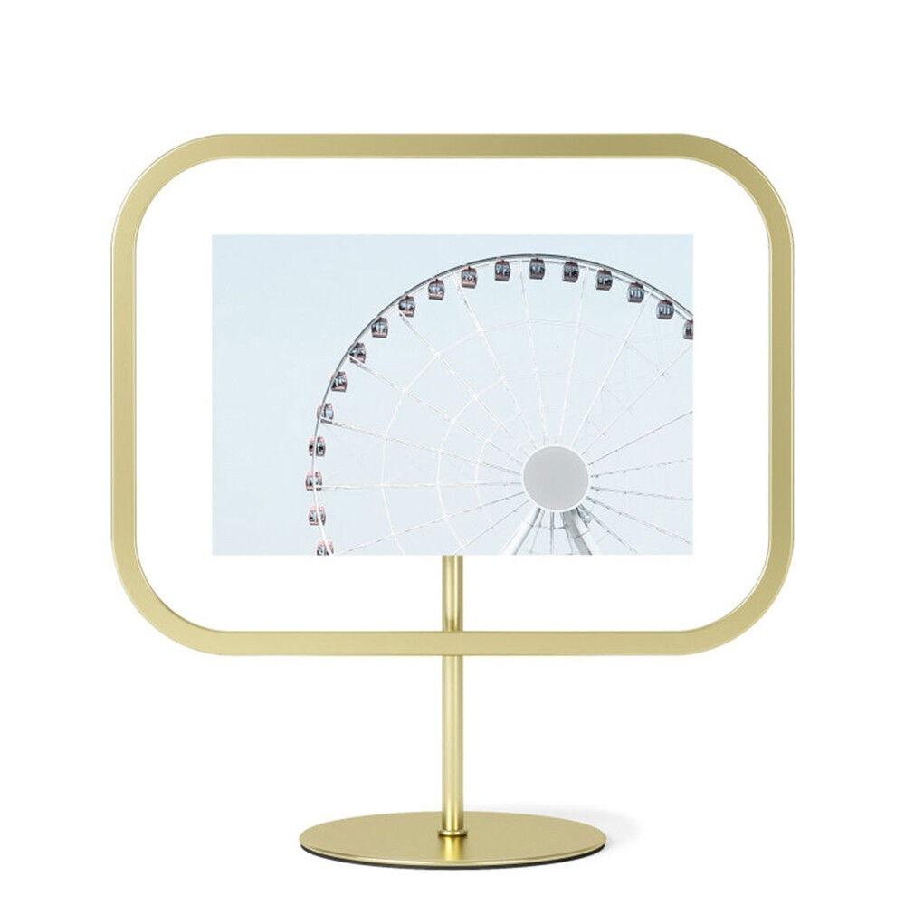 Umbra Cadre rectangle photo 10x15cm à poser ou fixer, métal doré