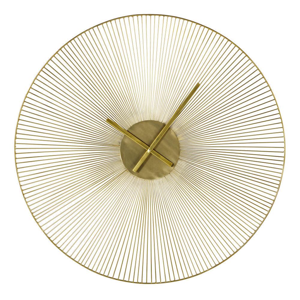 Maisons du Monde Horloge filaire en métal doré D90