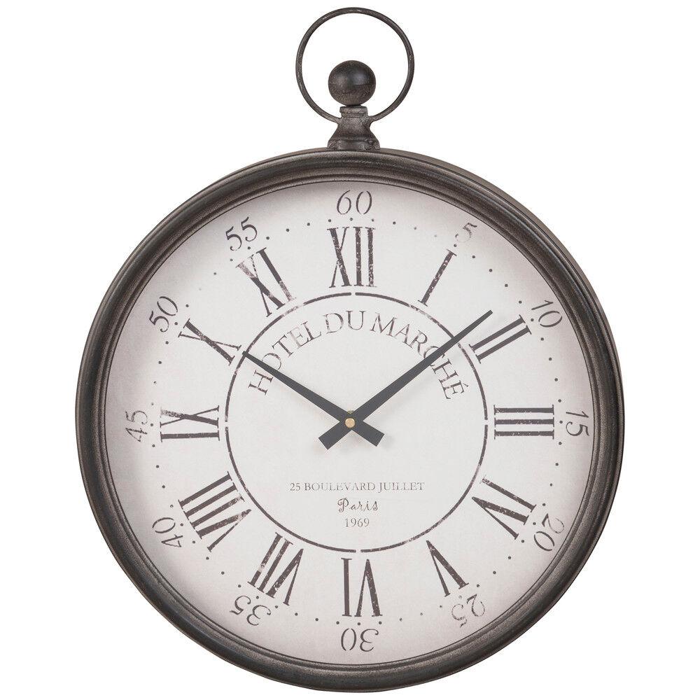 Maisons du Monde Horloge gousset en métal noir 41x51
