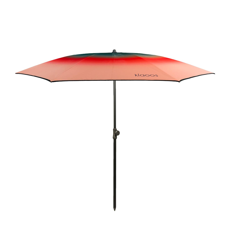 Klaoos Parasol de plage en textile recyclé rouge pastque