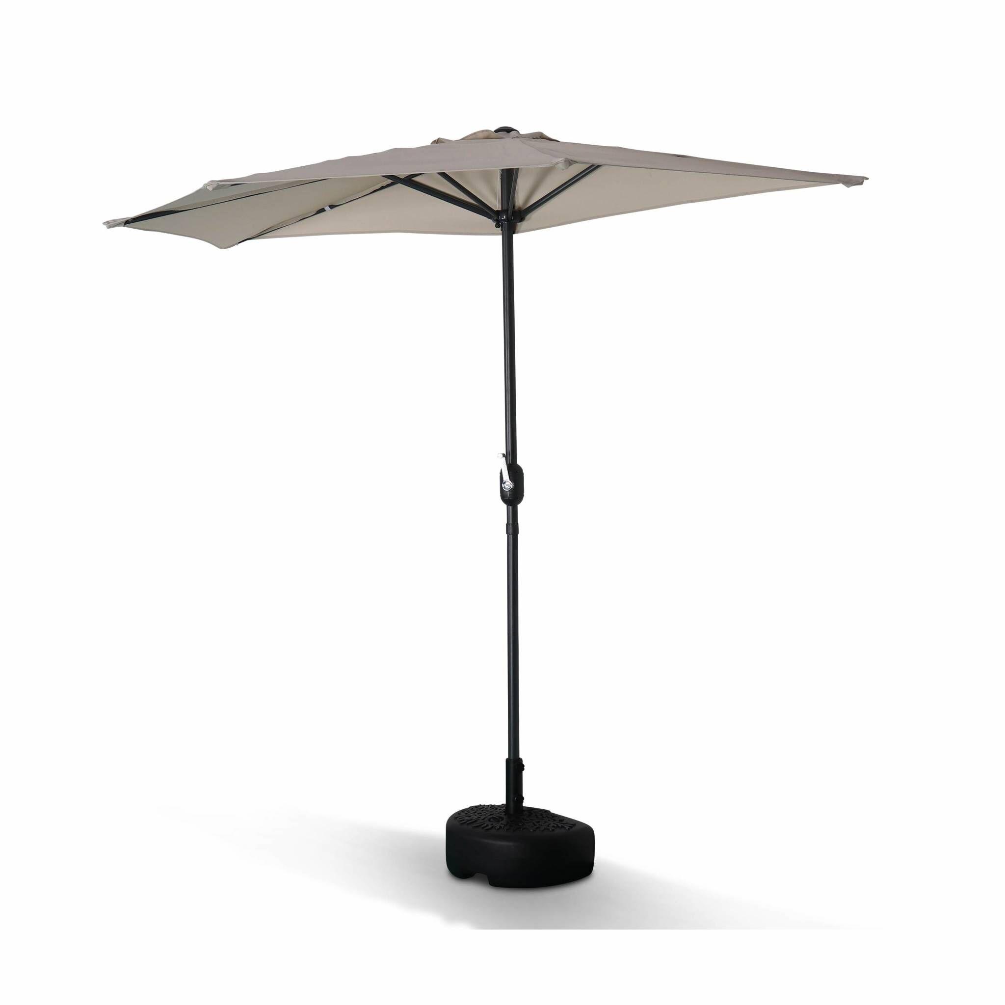 Alice's Garden Demi parasol de balcon droit mt en aluminium toile sable D250cm