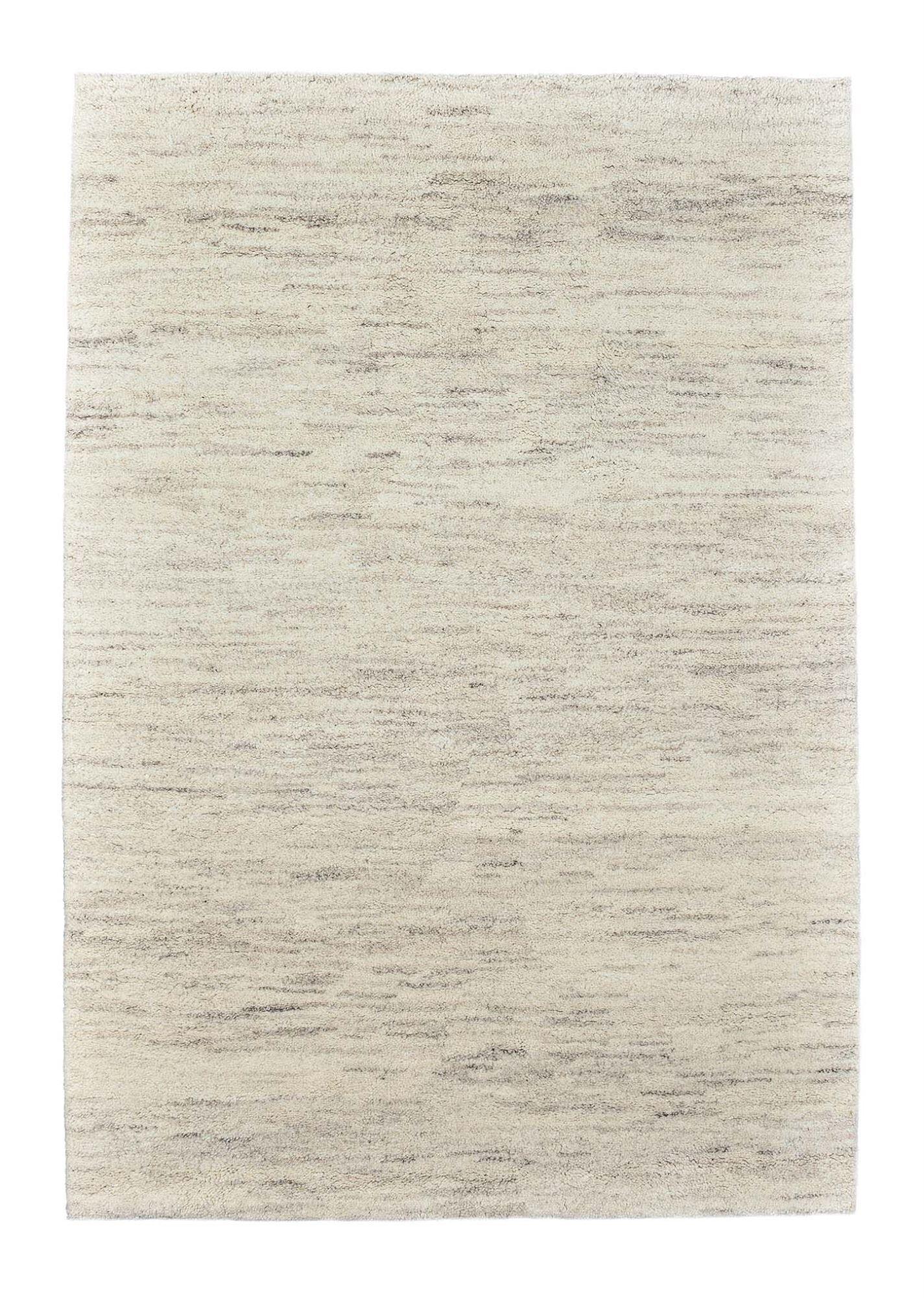 THEKO Tapis Berbre du maroc en laine naturelle jaspé 70x140