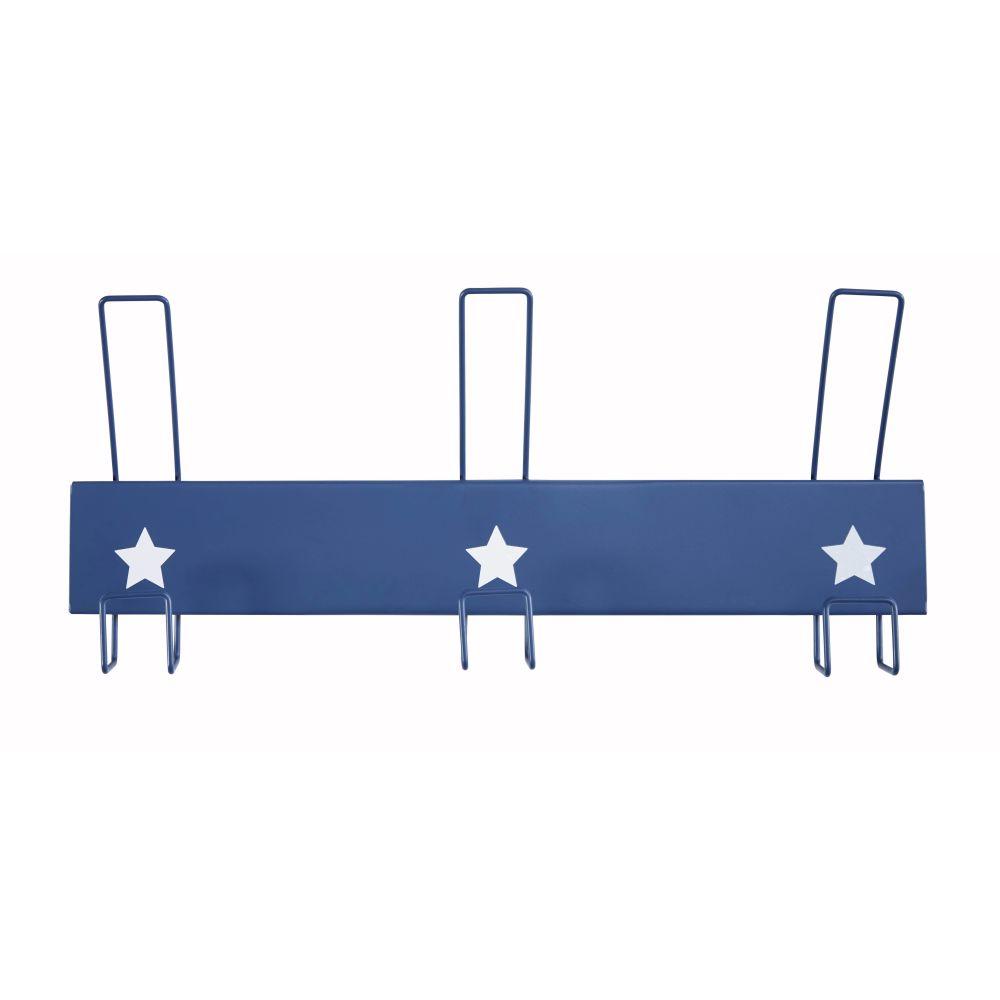 Maisons du Monde Patère 3 crochets en métal bleu
