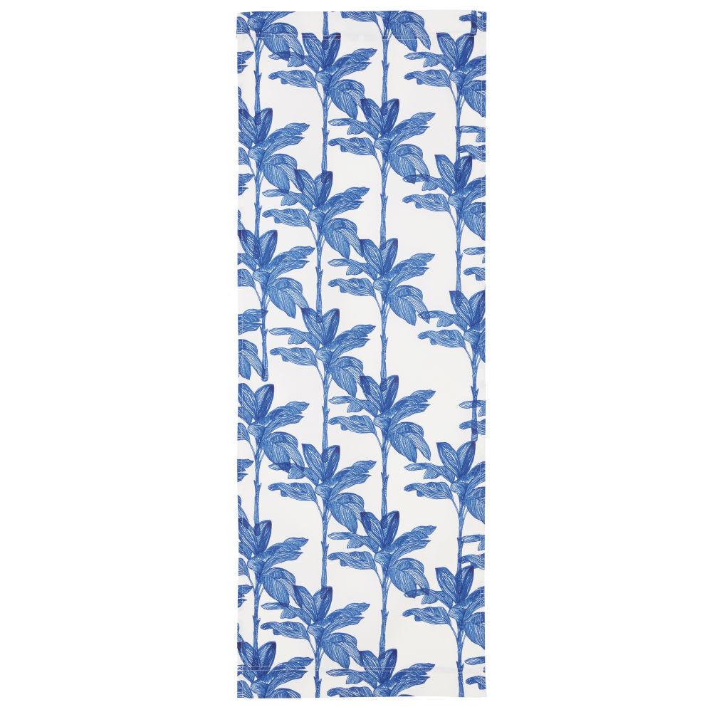 Maisons du Monde Toile de transat imprimé floral blanc et bleu compatible avec chilienne PANAMA