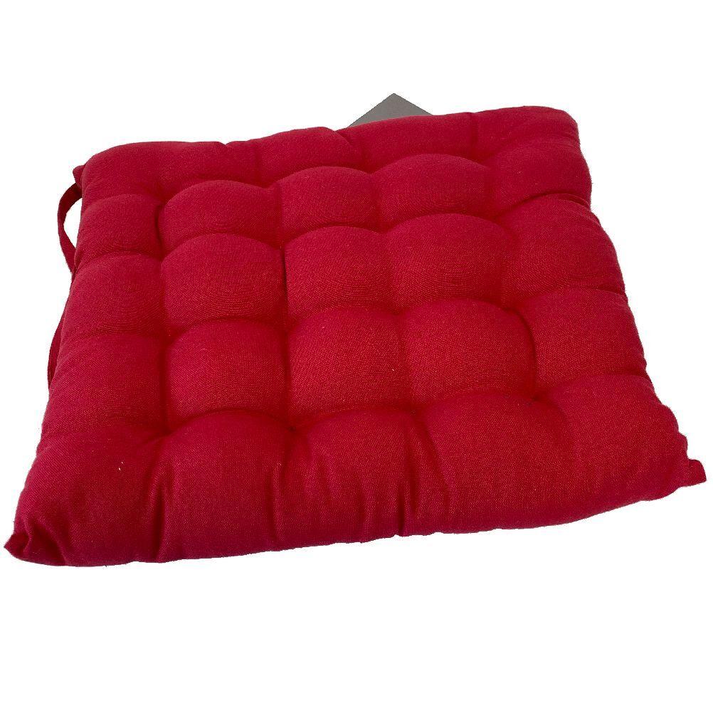 Vent du sud Coussin de chaise en coton rouge 40x40