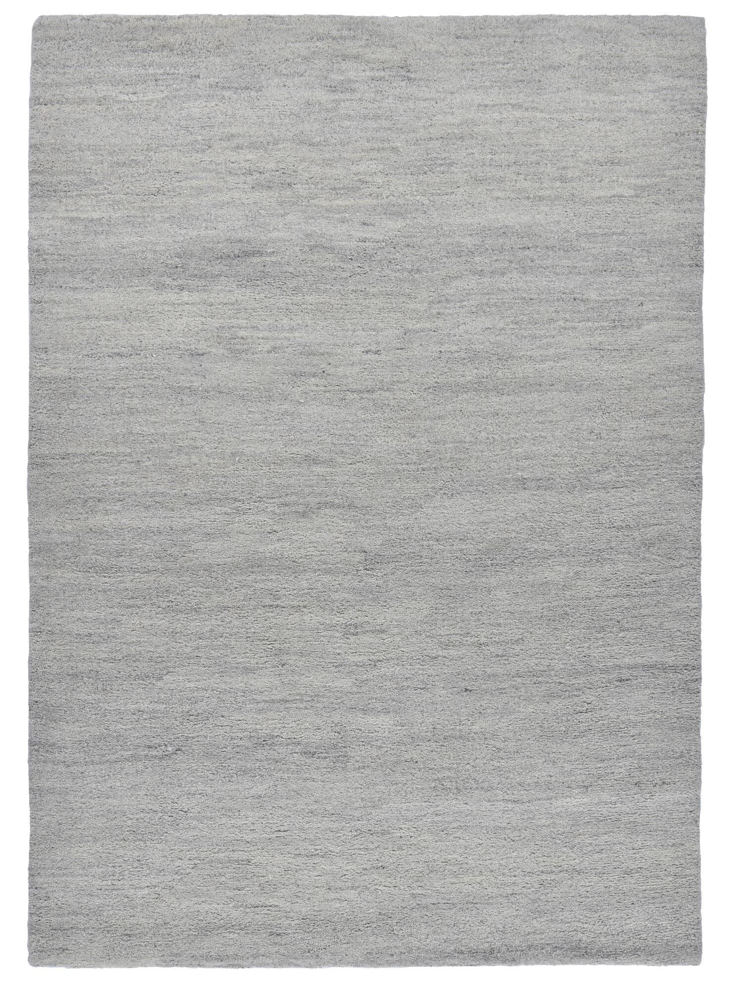THEKO Tapis berber du maroc en laine naturelle gris 140x200
