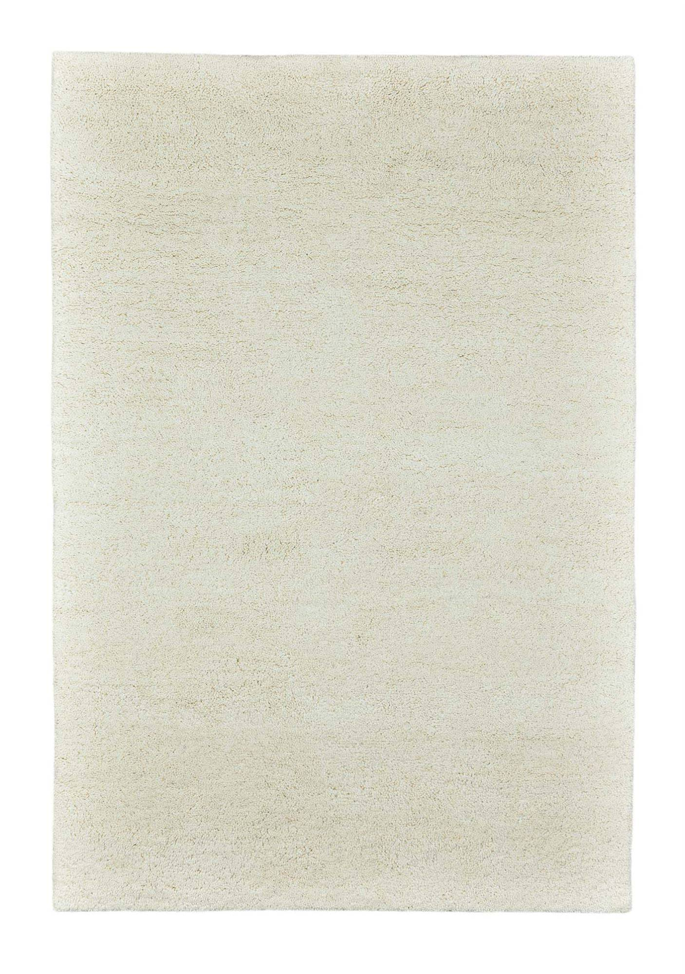 THEKO Tapis berber du maroc en laine naturelle Blanc 60x120