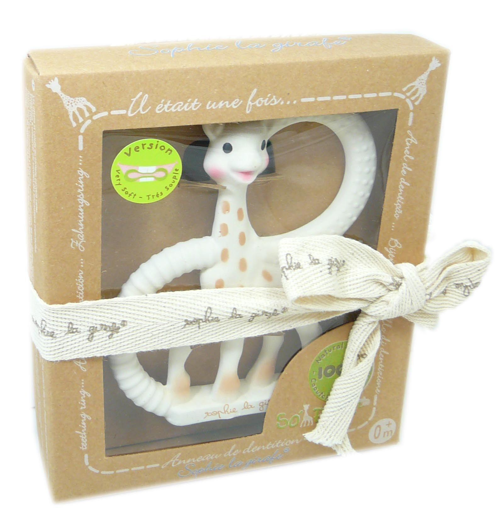 Sophie la girafe anneau de dentition so'pure souple